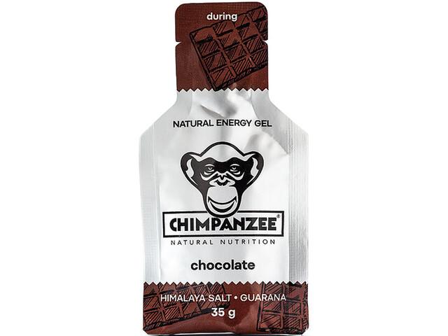 Chimpanzee Energy Gel Box 25x35g, Chocolate with Himalayan Salt (Vegan)